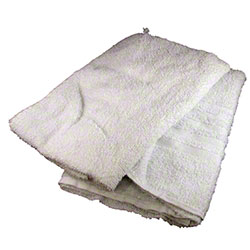 Recycled White Terry Cloth Half Towel - 10 lb.