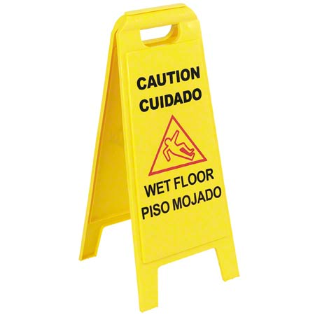 "Carlisle Flo-Pac® Wet Floor Sign - 25"" Tall x 11"" W"