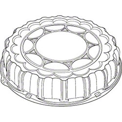 """Pactiv Clear Plastic Dome Lid  - 16"""""""