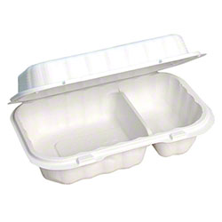 Pactiv EarthChoice® SmartLock® Container-6/16 oz, 2 Cmpt