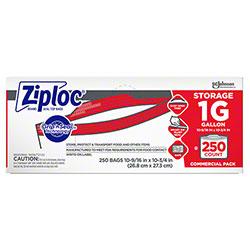 SCJP Ziploc® Brand Seal Top One Gallon Storage Bag - 250 ct.