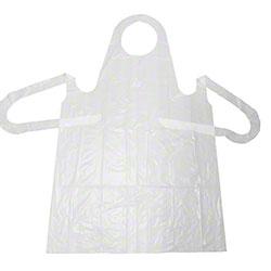 elara® Heavy Weight White Apron w/Extra Long Ties -28 x 46