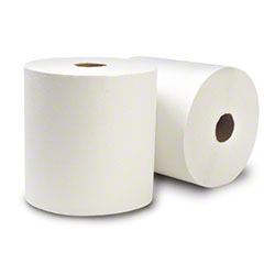 """WausauPaper® EcoSoft™ Roll Towel - 8"""" x 800', White"""