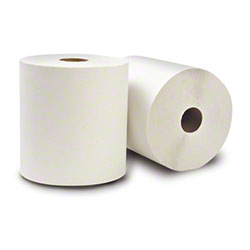 """WausauPaper® EcoSoft™ Roll Towel - 8"""" x 630', White"""