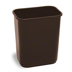 Continental Rectangular Plastic Wastebasket-28 1/8 Qt.