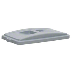 Continental Wall Hugger™ Recycle Lid w/Handles- Grey