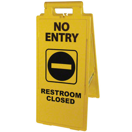 """Impact® 2x4 """"No Entry/Restroom Closed"""" Sign"""