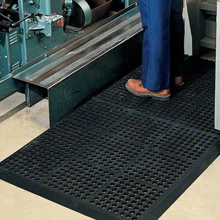 PRO-LINK® 3' Rubber Anti-Fatigue Mat Bevel Strip