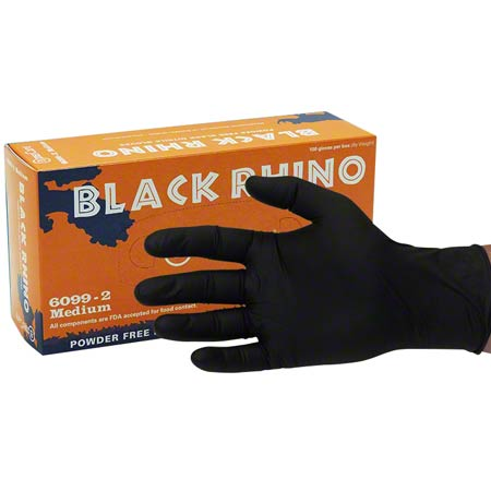BLACK NITRILE PF MED EXAM GLOVE 100/BX