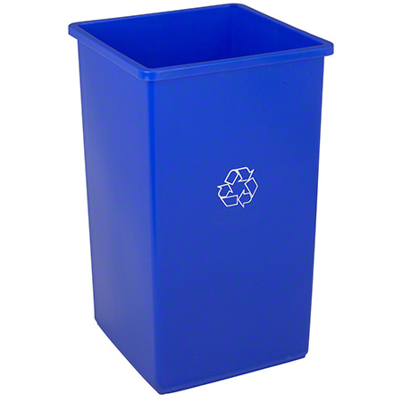 32 GAL SQUARE RECYCLE RECEPTACLE 4/CS