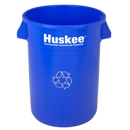 32GAL HUSKEE RECYCLE CAN BLUE