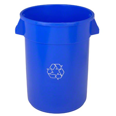 44 GAL BLUE RECYCLE CAN