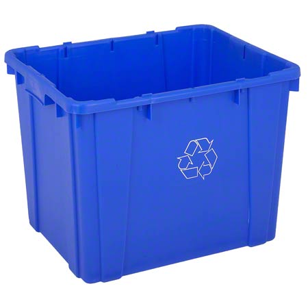 14 GAL BLUE RECYCLE BIN CURBSIDE