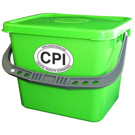 CPI 3.5GL BUCKET W/SEALING LID LIME GREEN