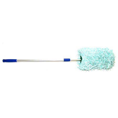 "DUSTER W/ EXTENDIBLE HANDLE 34""-51"" GREEN/WHITE CPI"