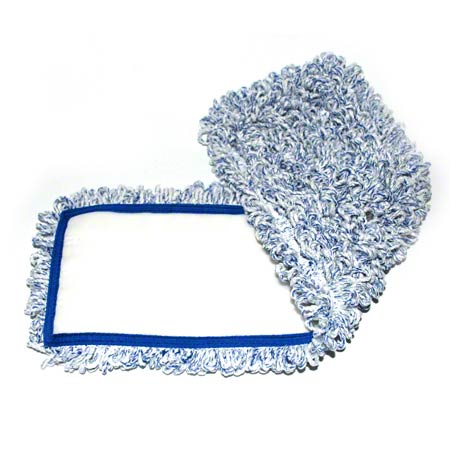 "18"" LOOPED BLUE MICROFIBER MOP HOOK CPI"