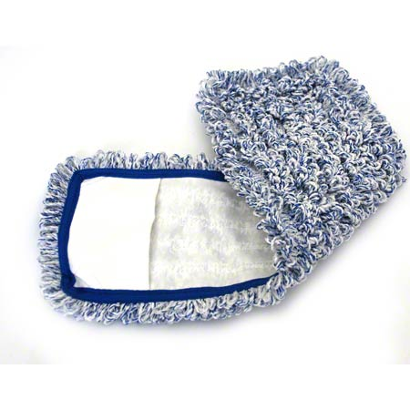 "18"" LOOPED BLUE MICROFIBER POCKET MOP CPI"