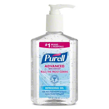 ADVANCED INSTANT HAND SANITIZER, PUMP, 8OZ/12/CS