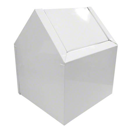 C-SWING SANITARY NAPKIN RECEPTACLE WHITE (DOGHOUSE)