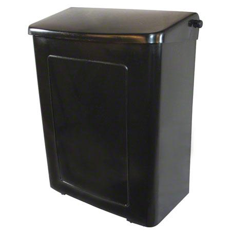 SANITARY NAPKIN RECEPTACLE BLACK PLASTIC