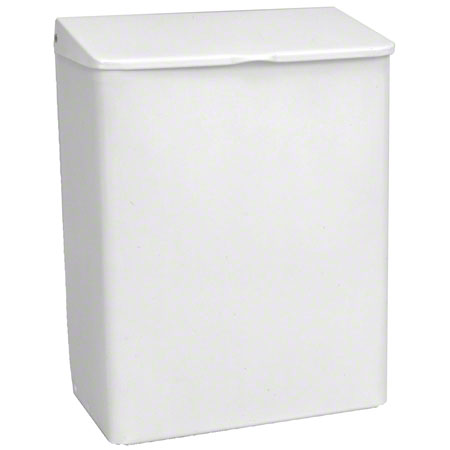 SANITARY NAPKIN RECEPTACLE WHITE