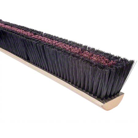 MED RD-BLK BROOM 24""