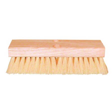 "DECK BRUSH 10""WH.(TAMPICO) 210 10"" DECK BRUSH WHITE"