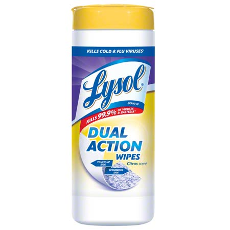 LYSOL DISINFECTING WIPERS, CITRUS, 7 x 8, 35/CANISTER
