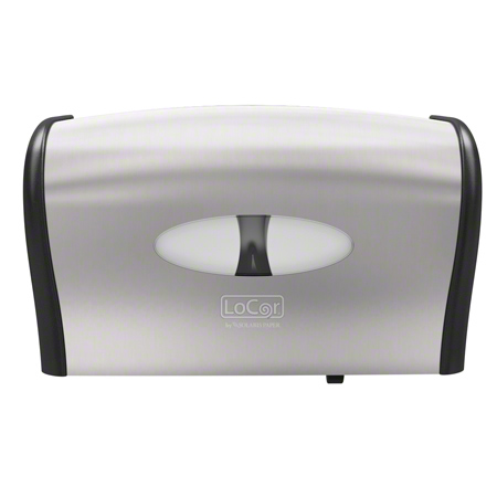 MANUAL BATH TISSUE SIDE BY SIDE DISPENSER STAINLESS