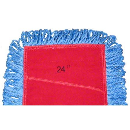 "24"" MICROFIBER DUST MOP LOOPED END SLANT 12/CS CPI"
