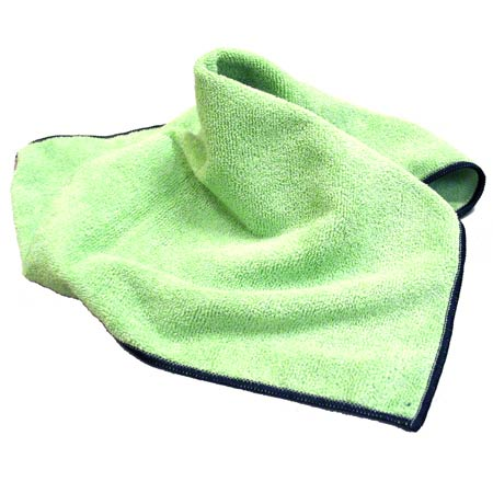 "SSS MICROFIBER CLOTH GREEN 16""X16"" 24/CS CPI"