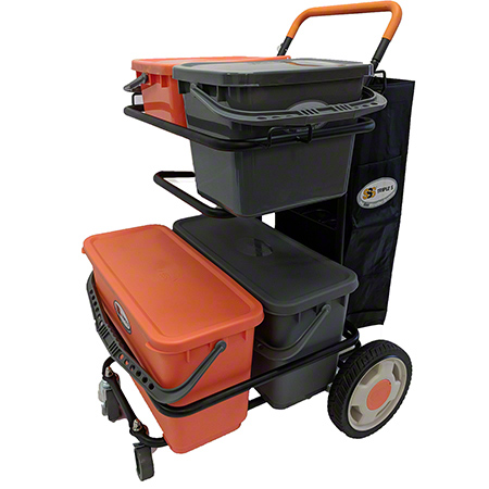 SSS MICROFIBER CLEANING CART WITH BAG CPI