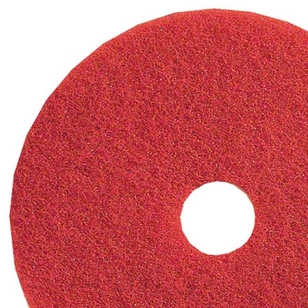 "18"" RED SCRUB PADS 5/CS"