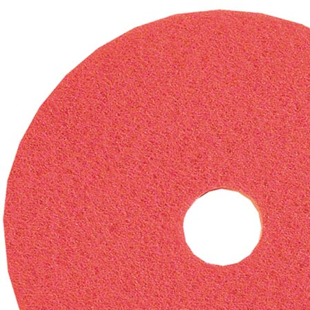 "11"" RED SCRUB PADS 5/CS"