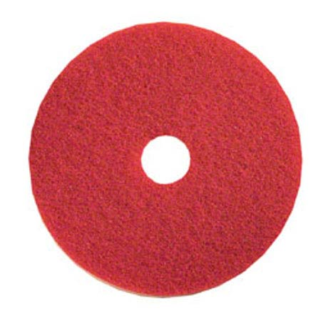 "12"" RED SCRUB PADS 5/CS"