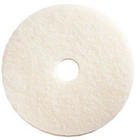 "19"" WHITE POLISH PADS 5/CS"