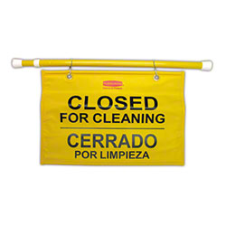 """Rubbermaid® """"Closed For Cleaning"""" Hanging Sign"""