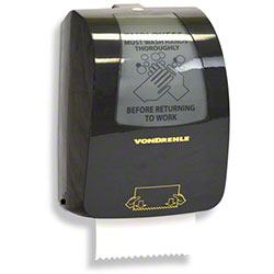 Von Drehle Mechanical Pull-Down Roll Towel Dispenser - Black