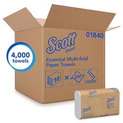 "Scott® Essential Multi-Fold Towel - 9.2"" x 9.4"", White"
