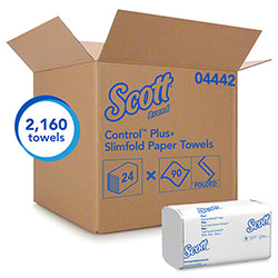 "Scott® Control™ Plus+ Slimfold Towel - 7.5"" x 11.6"", White"