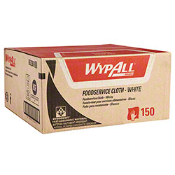 "WypAll® X80 Foodservice Extended Use Cloth w/Antimicrobial Treatment - 12"" x 23.4"", White"