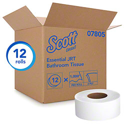 "Scott® Essential Jumbo Roll Bathroom Tissue - 3.55"" x 1000', White"