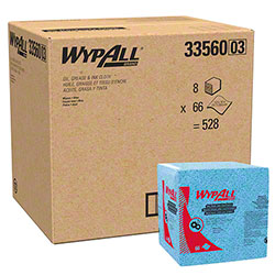 "WypAll® Oil, Grease & Ink Cloth - 12.5"" x 12"", Blue"