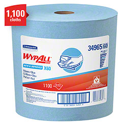 "WypAll® X60 Jumbo Roll Reusable Cloth - 12.5"" x 13.4"", Blue"
