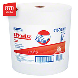 "WypAll® X70 Jumbo Roll Extended Use Reusable Cloth - 12.4"" x 13.4"", White"