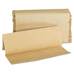 GEN Multifold Paper Towels, 9 x 9 1/2, Kraft