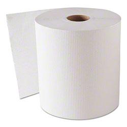 GEN Hardwound Roll Towels, White, 8 x 800'