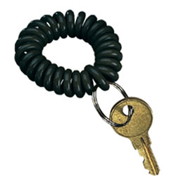 Wrist Key Coil Chain Black