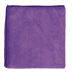 "NuFiber Microfiber Round Corner Cloth - 16"" x 16"", Purple"