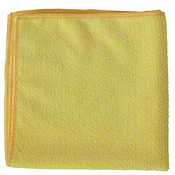 "NuFiber 300gsm Round Corner Cloth - 16"" x 16"", Yellow"